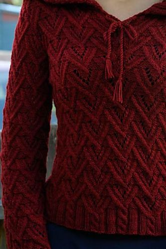 Ravelry: Fauna Pullover pattern by Shirley Paden. $ also in Interweave Knits Winter 2011.