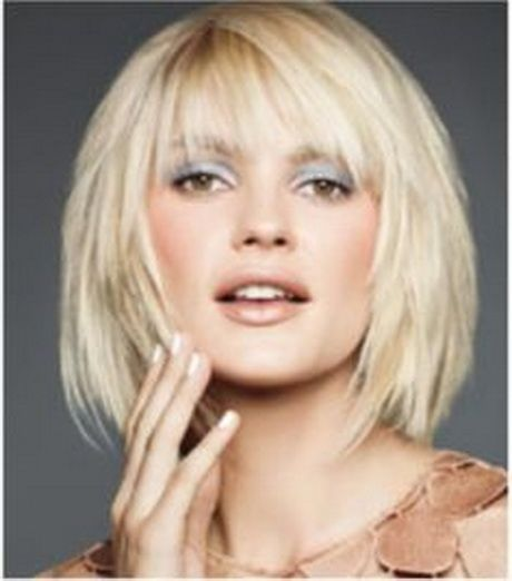 Layered Bob Bangs Medium Bobs With Fringe Hairstyles