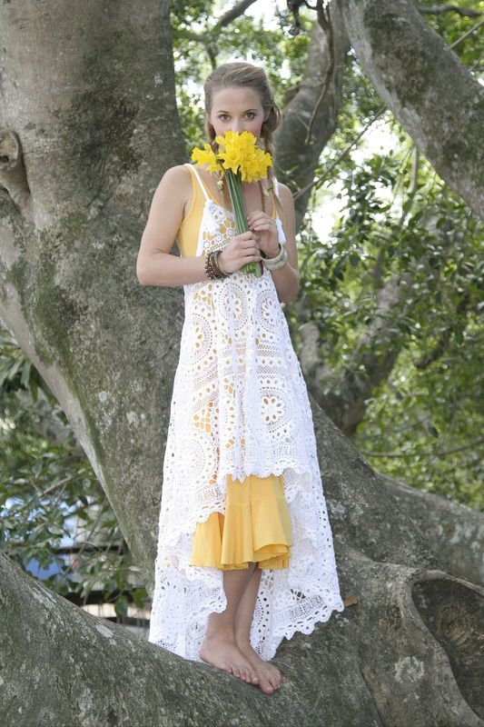 Gorgeous handmade waterfall dress from Chuckles & Boo (made from antique fabrics!) <3