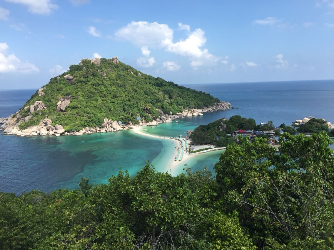 Koh Nang Yaun near Koh Samui, Thailand. Stunning! Well worth the trip