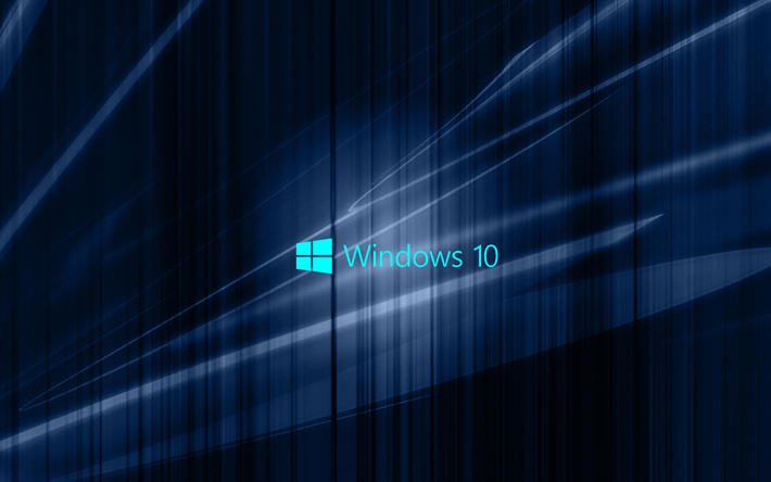 Download Wallpapers Windows 10 Dark Blue Abstraction Emblem Win10 Windows Besthqwallpapers Com Microsoft Wallpaper Windows 10 Desktop Backgrounds Windows Wallpaper
