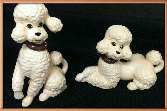 dog vintage figurines molded