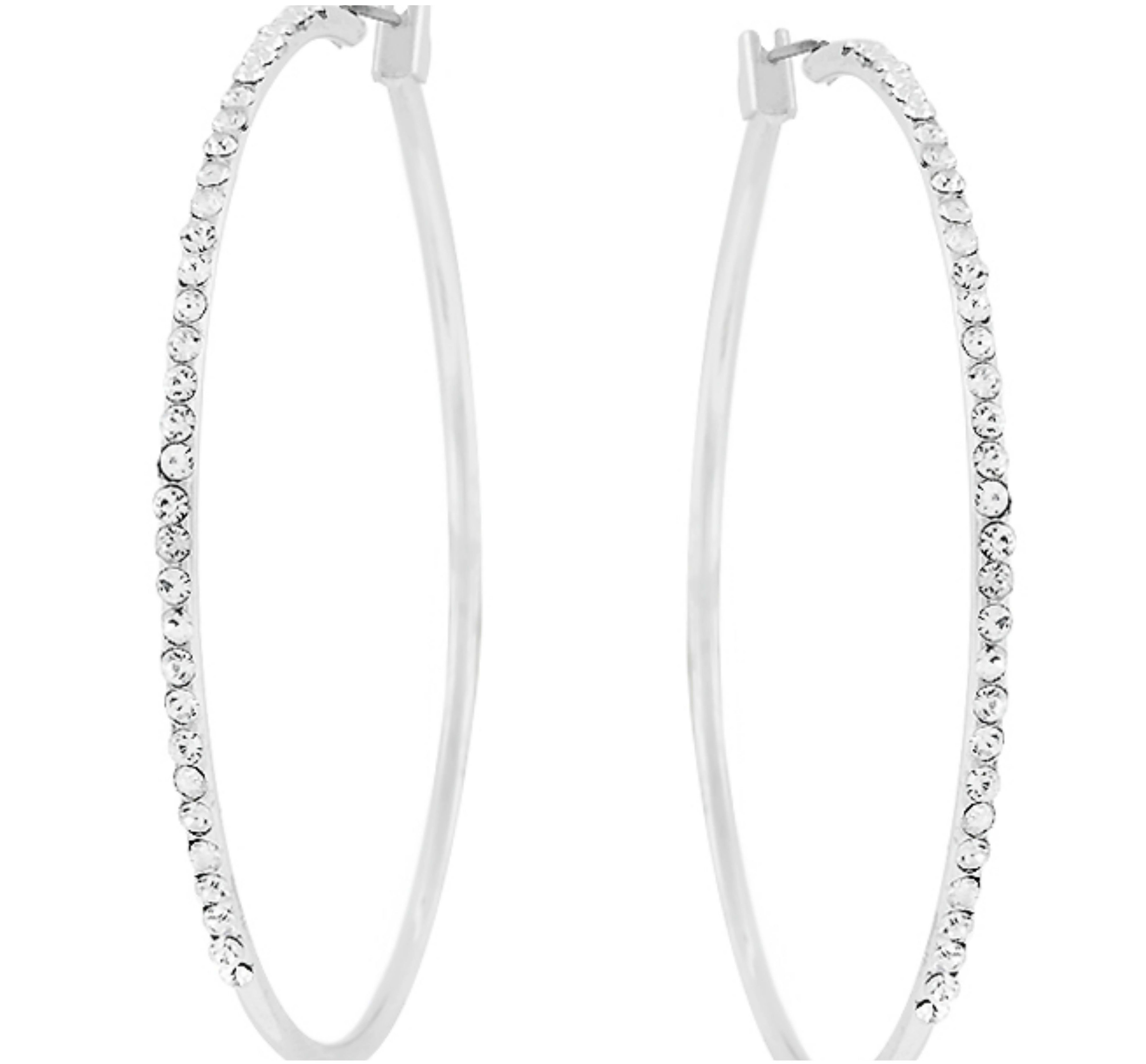 Gwen Classic Hoop CZ Gold Earrings 1 5ct