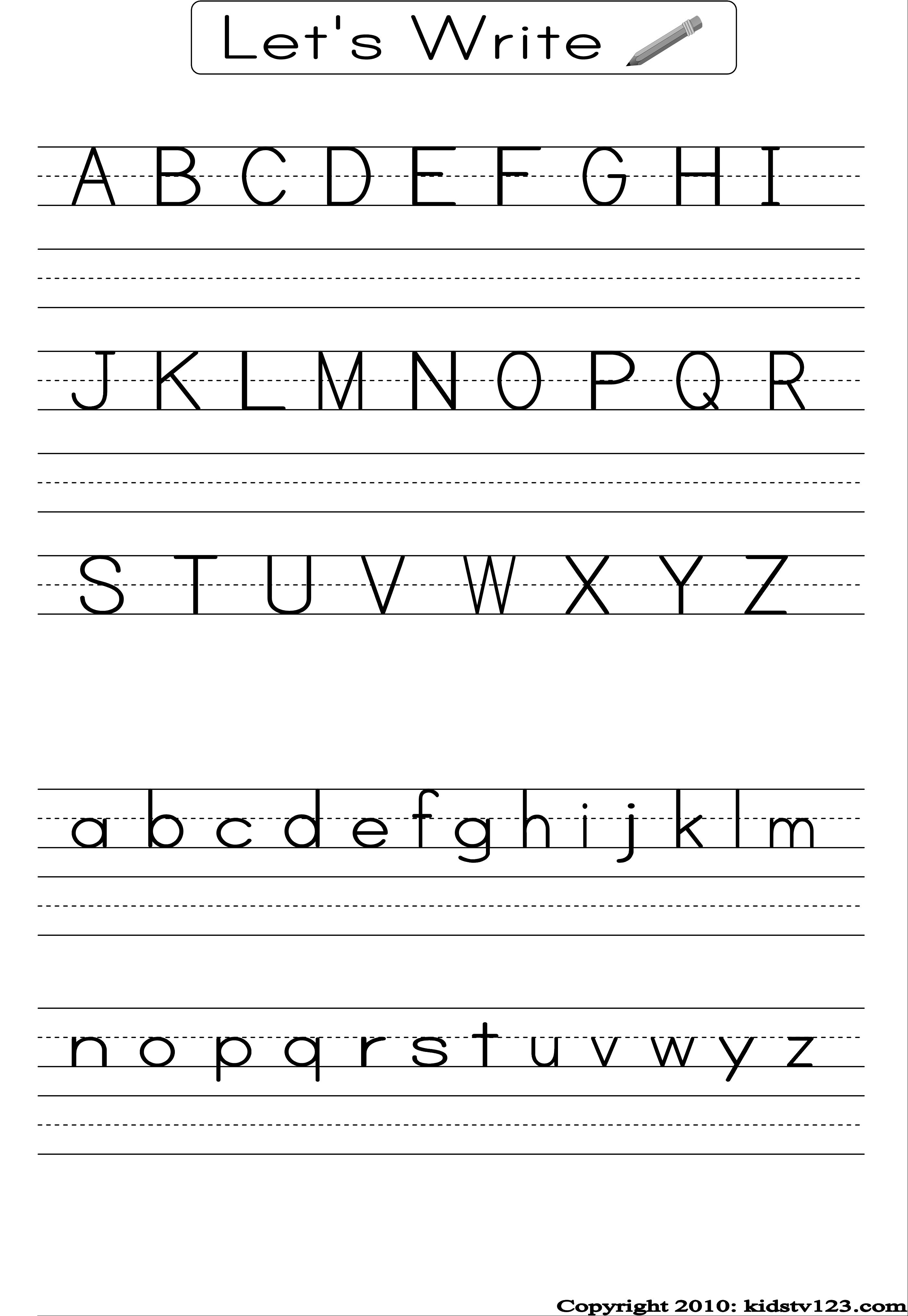 Free printable alphabet worksheets, Preschool writing and