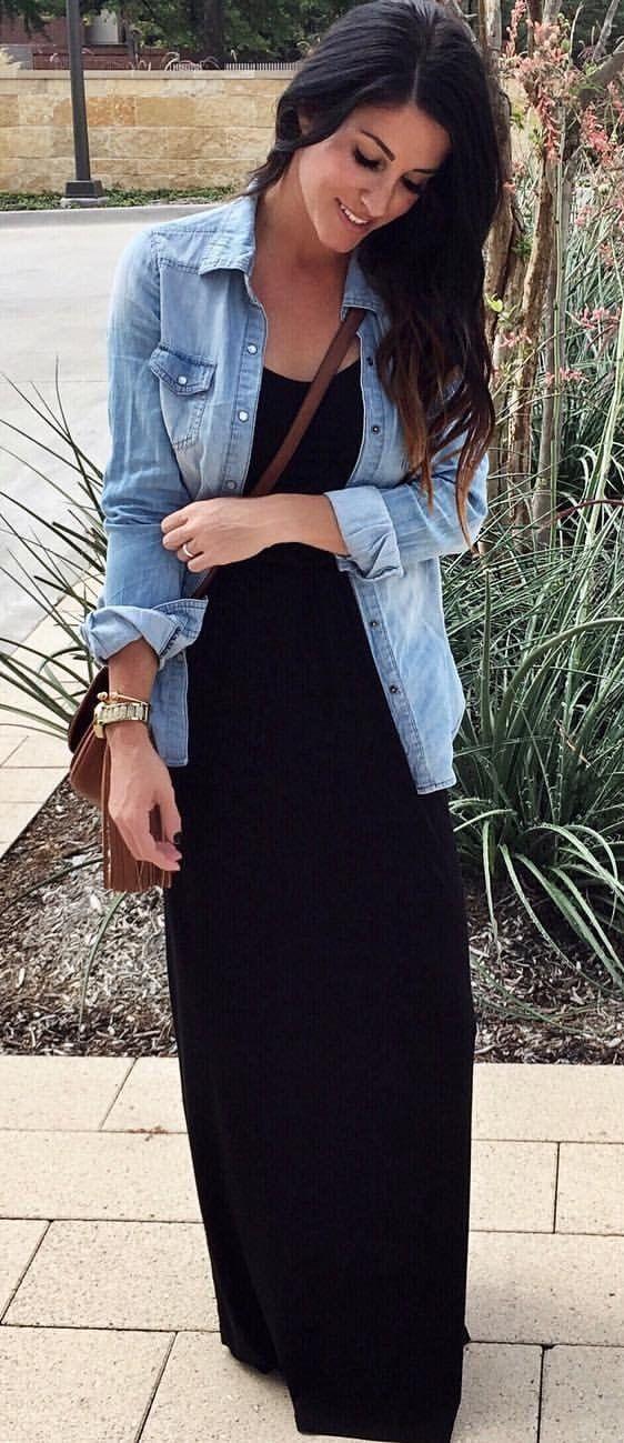 449ad4658 fall #outfits El uso de este vestido negro de $ 38 Maxi ... again ...