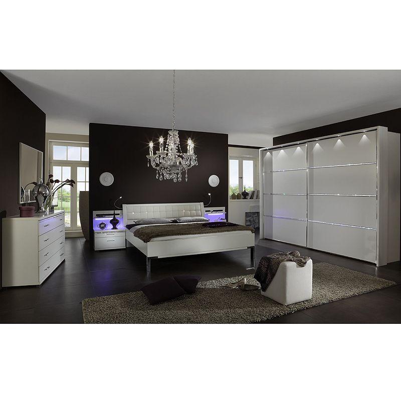 Schlafzimmer Set DAIBU230 alpinweiß Nachbildung, mit