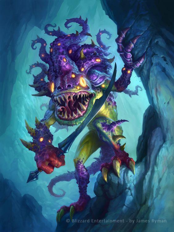 Bilefin Tidehunter is a common neutral minion card, from the ...