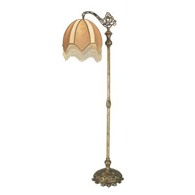 comfy vintage brass floor lamp with glass table floor lamp antique