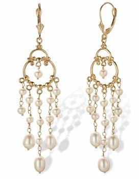 14k gold pearl chandelier earrings jewelry pinterest pearl 14k gold pearl chandelier earrings aloadofball Images