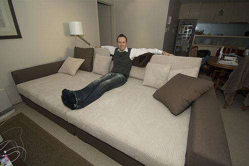 How To Keep A Bed From Dominating A Mixed Use Room Offbeat Home Life Home Home Decor Couch Bed