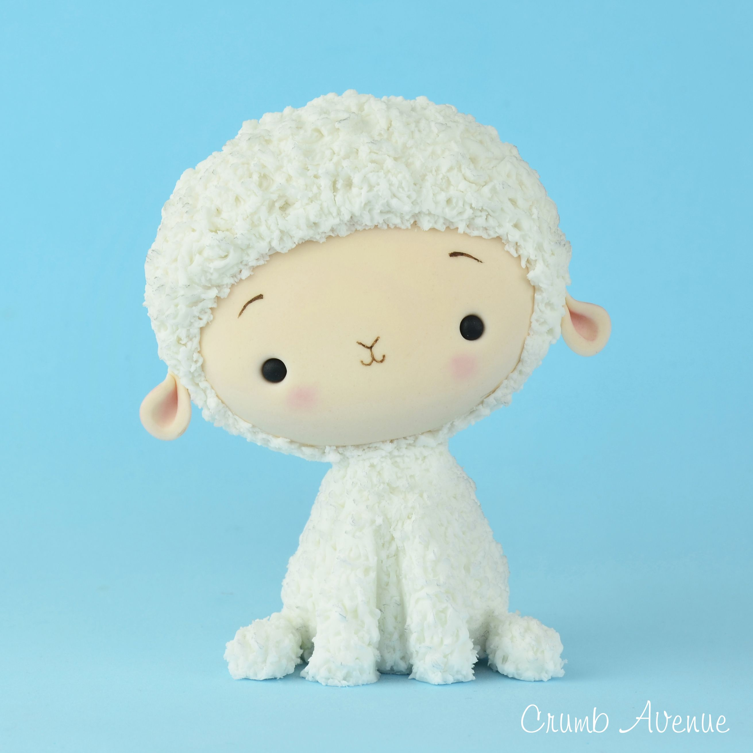 Cute Fluffy Lamb Cake Topper - head made the same way as ...