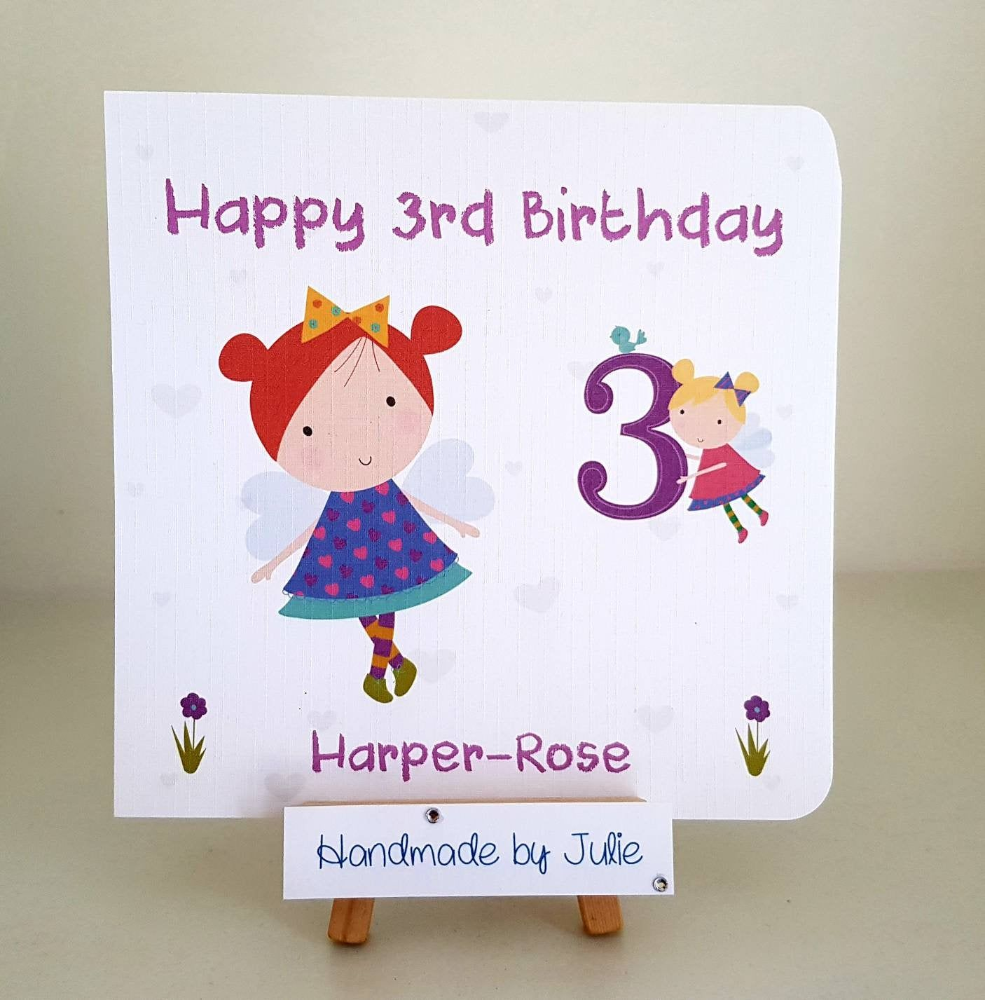 Cute Birthday For Girls Personalised /& Handmade Birthday Card Sister// Friend