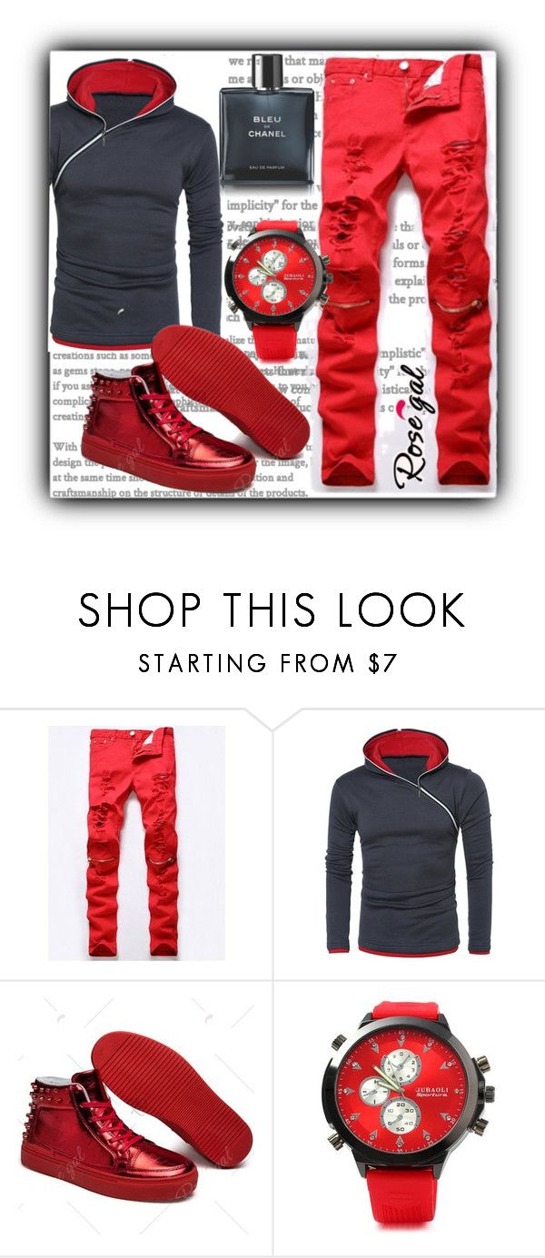 """""""hoodie"""" by fatimka-becirovic ❤ liked on Polyvore featuring Chanel, men's fashion, menswear, hoodie and men"""