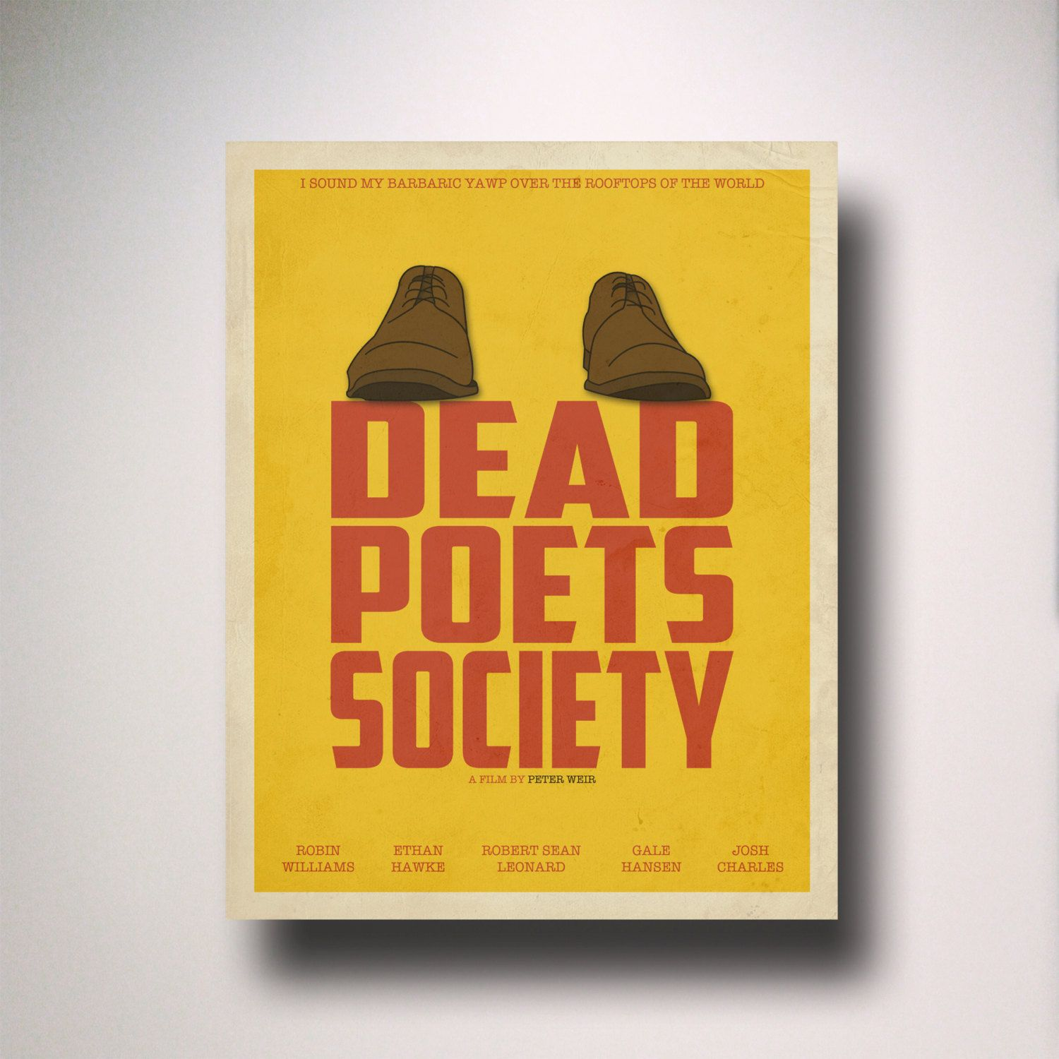 Dead Poets Society Inspired Minimalist Movie Poster / Minimalist ...