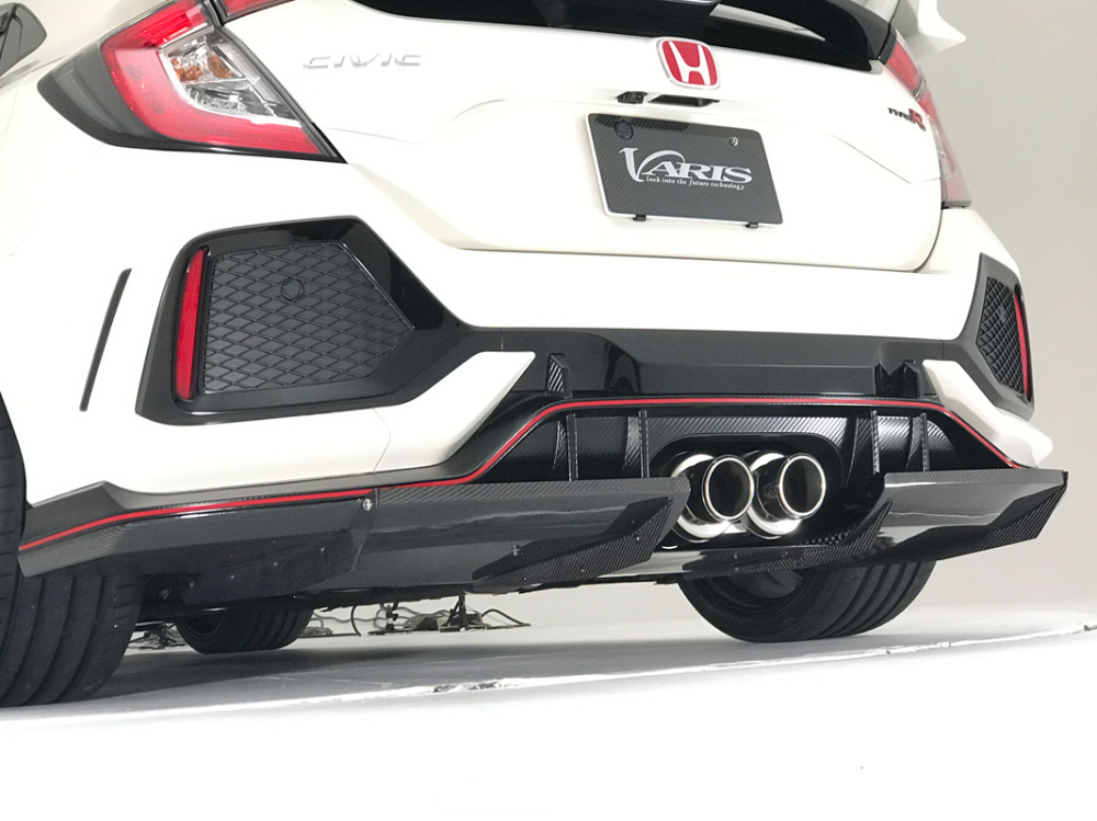 Varis Arising I Rear Diffuser For 2017 19 Honda Civic Type R Fk8 Vaho 16c Varis North America In 2020 Honda Civic Type R Honda Civic Honda Civic Vtec