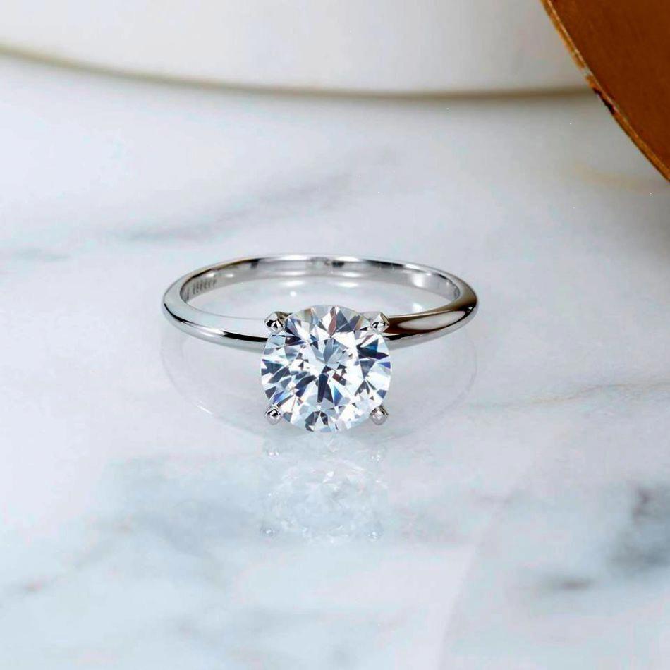 Solitaire Wedding Ring Solitaireweddingring Ritani Engagement Rings Wedding Rings Simple Big Wedding Rings