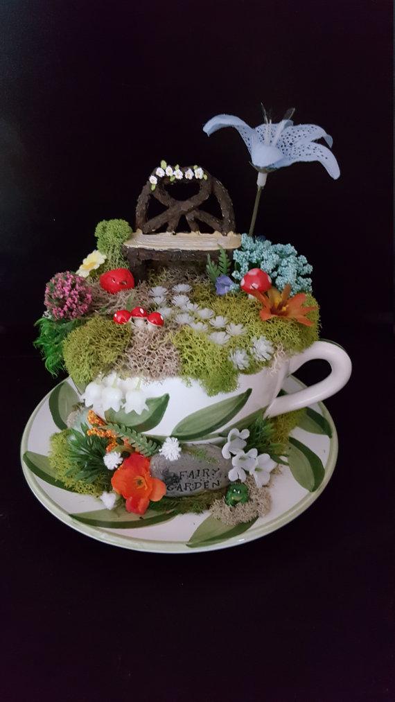 Teacup Fairy Garden Wedding Theme Custom Wedding Gift Idea