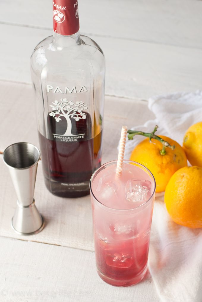 Light Summer Cocktail Recipes: Pomegranate Lemonade Cocktail. Light And Refreshing! The