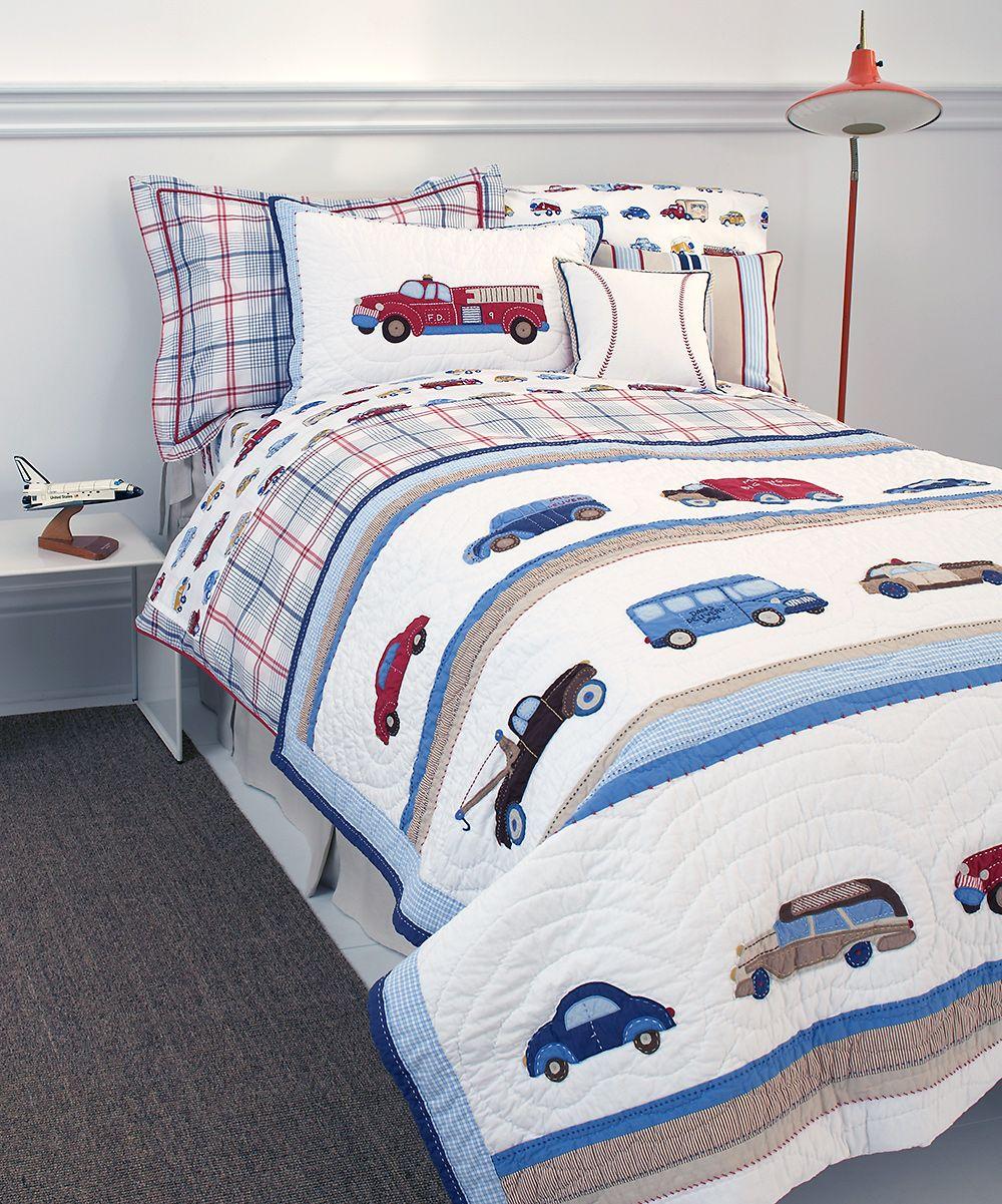 Cars & Trucks Quilt zulily Roupa de cama, Jogos de