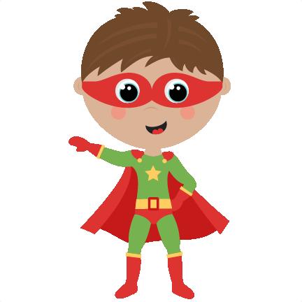 Superhero kid. Boy cute cut files