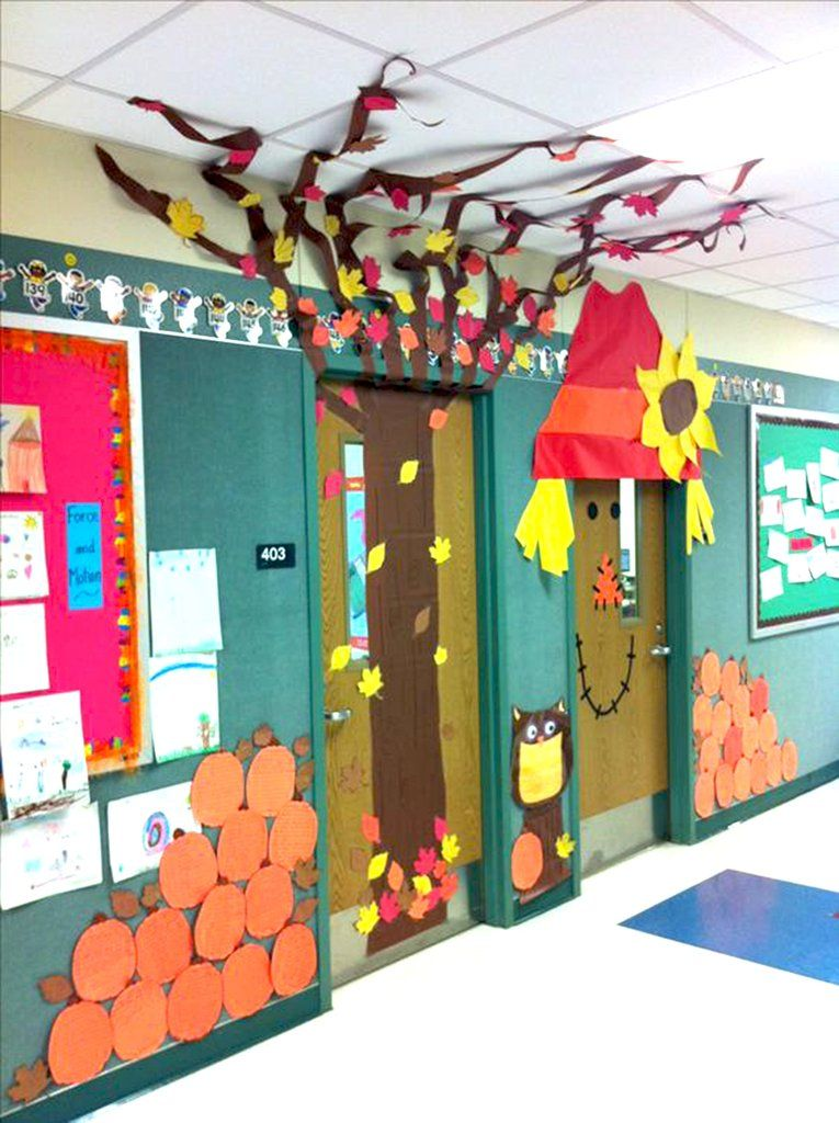 Classroom Decorations Uk ~ Super cool classroom doors to bring in the fall season