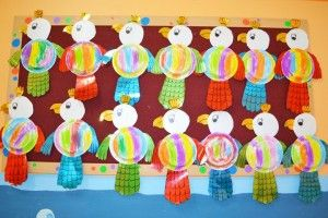 paper plate parrot craft idea for kids  sc 1 st  Pinterest & paper plate parrot craft idea for kids | Parrot craft idea ...