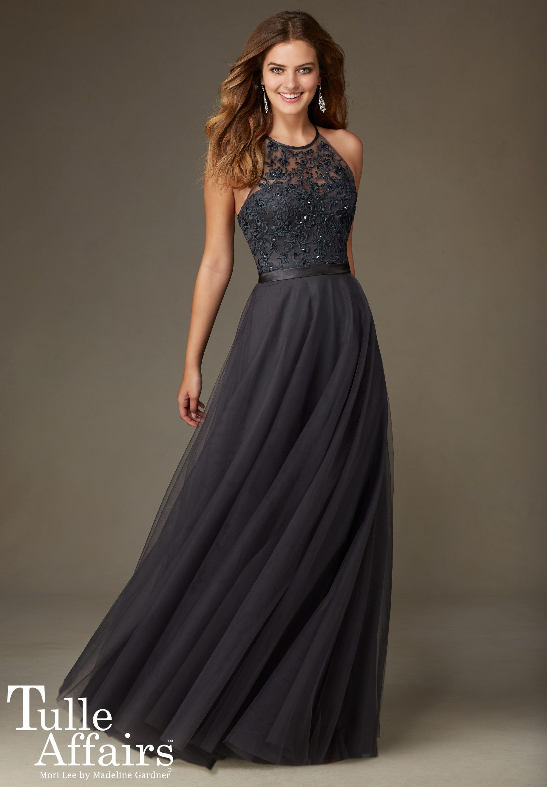 Bridesmaids Dresses - Tulle Affairs Tulle with Embroidery and Beading with  Satin Waistband Available in all Mori Lee Tulle Bridesmaids colors. 7982e729651c