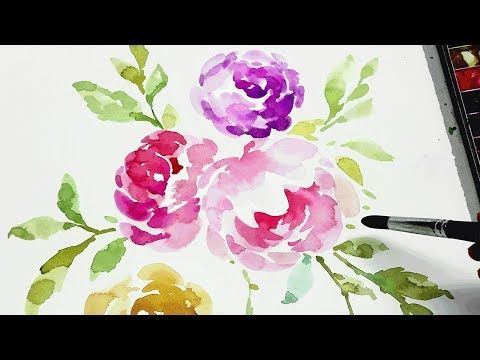 Watercolor Flower Painting Step By Step Therapy Relaxation