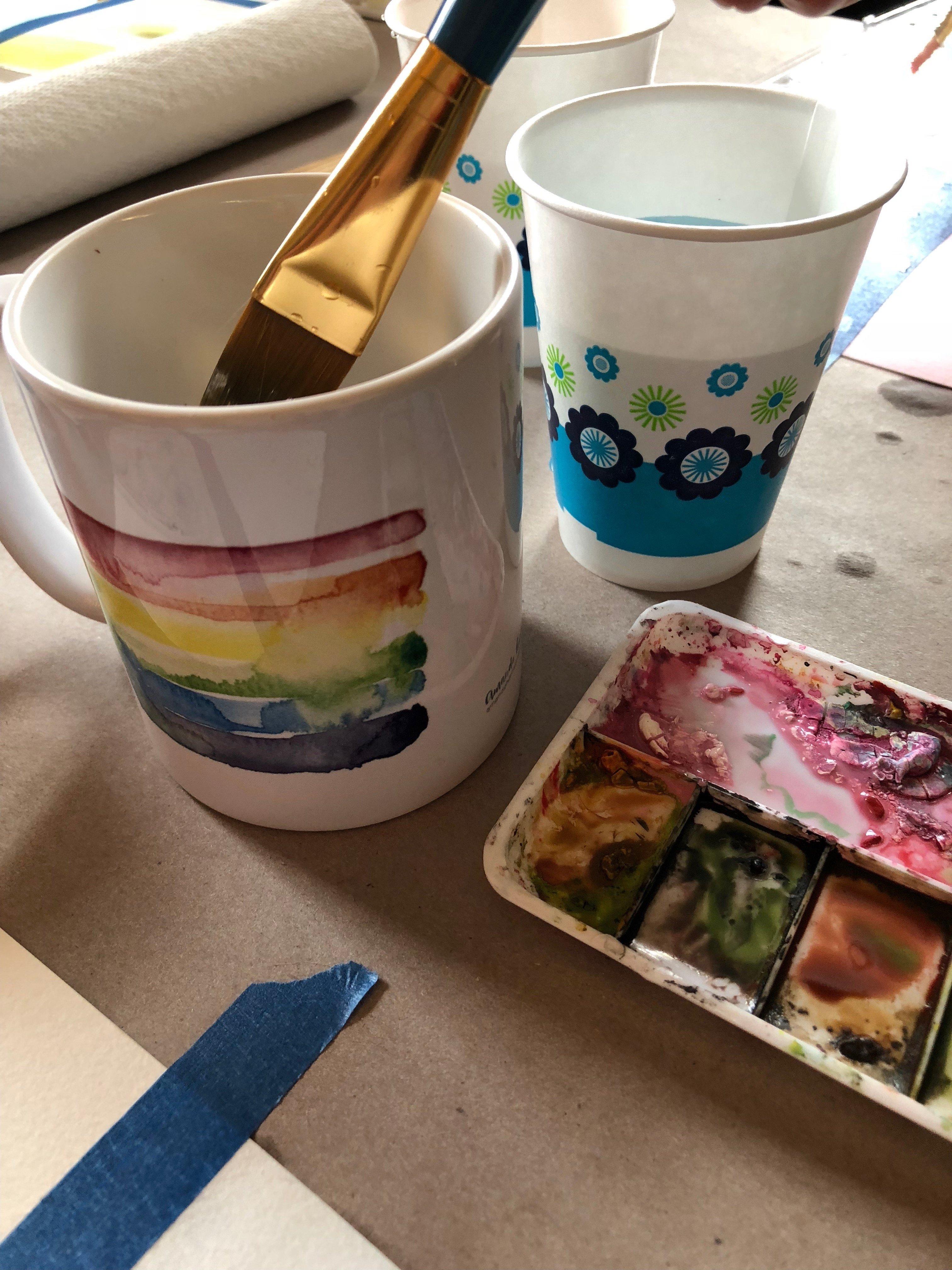 Rainbow Mug Mugs, Ceramic mugs, Morning coffee