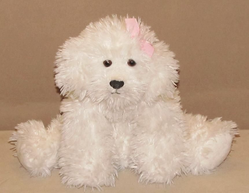 12 mary meyer flip flops white poodle puppy dog relaxed
