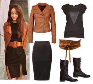 Falda de cuero con botas | Faldas, Ropa de moda y Moda estilo