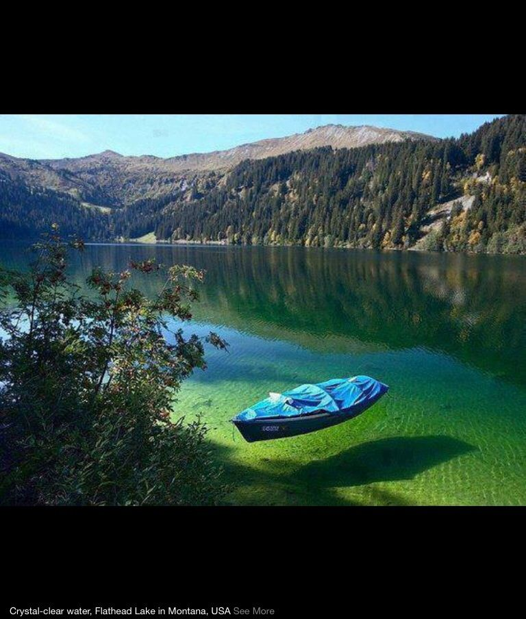 Places To Visit In Montana Usa: Flathead Lake In Montana, USA. The Water Is So Crystal