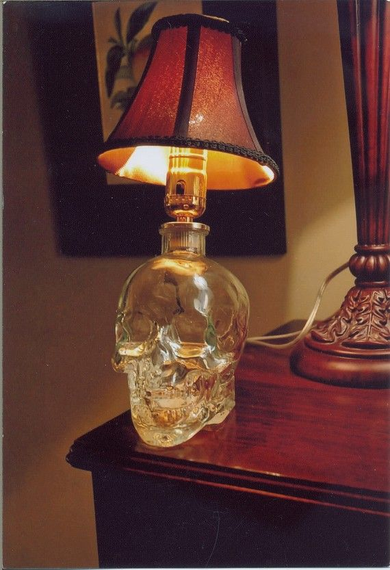 Crystal head vodka lamp 85 00 via etsy
