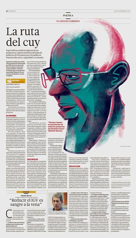 a505085c94 Ilustración: Estupendo trabajo de Victor Sanjinez Garcia del diario peruano  El Comercio. La ruta