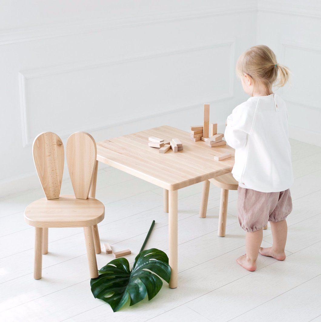 Chaise En Bois Lapin Table Et Chaise Enfant Deco Chambre Bebe Garcon Chambre Bebe