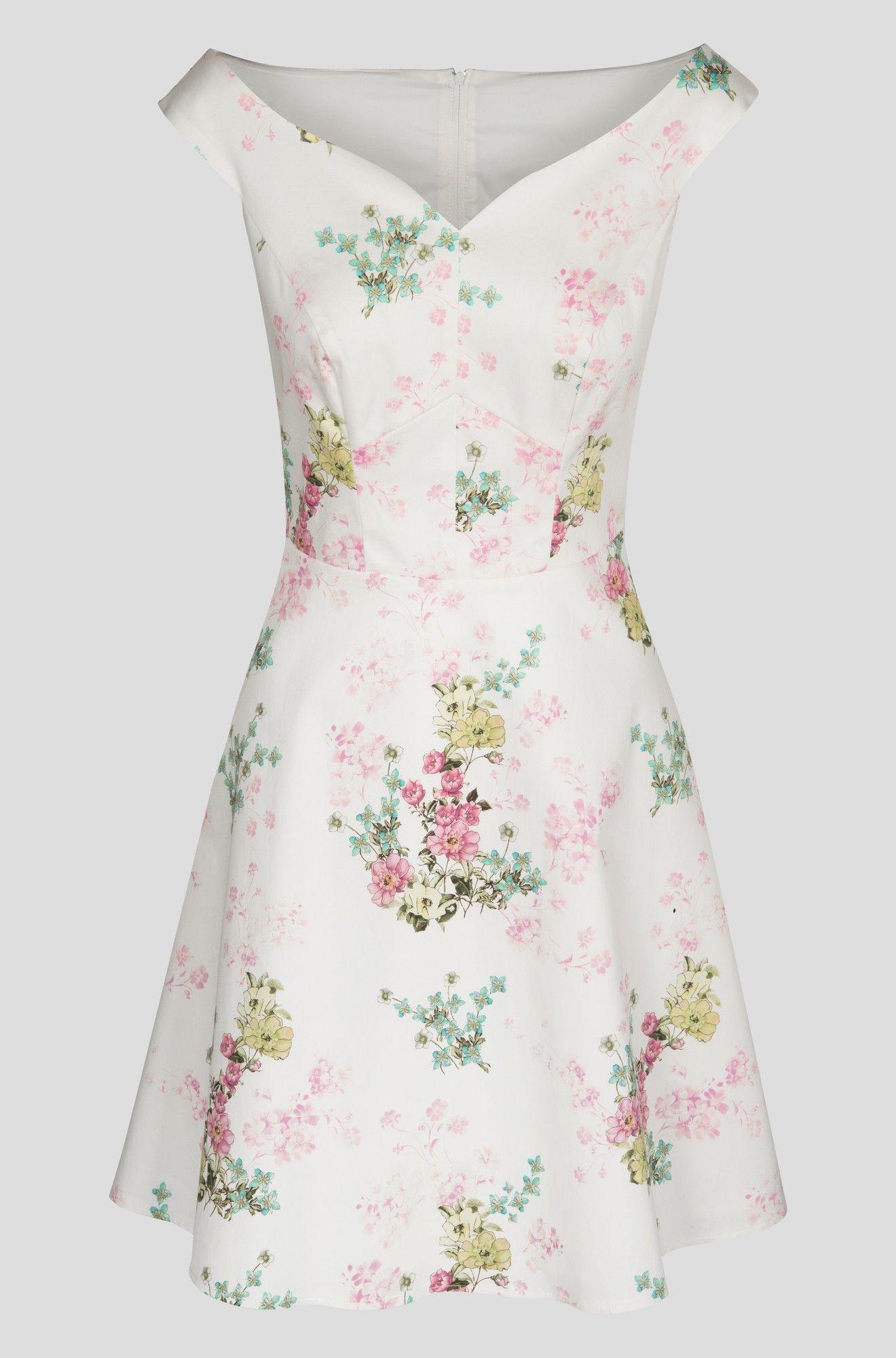 glockenkleid mit blumen-muster | orsay | schöne kleider