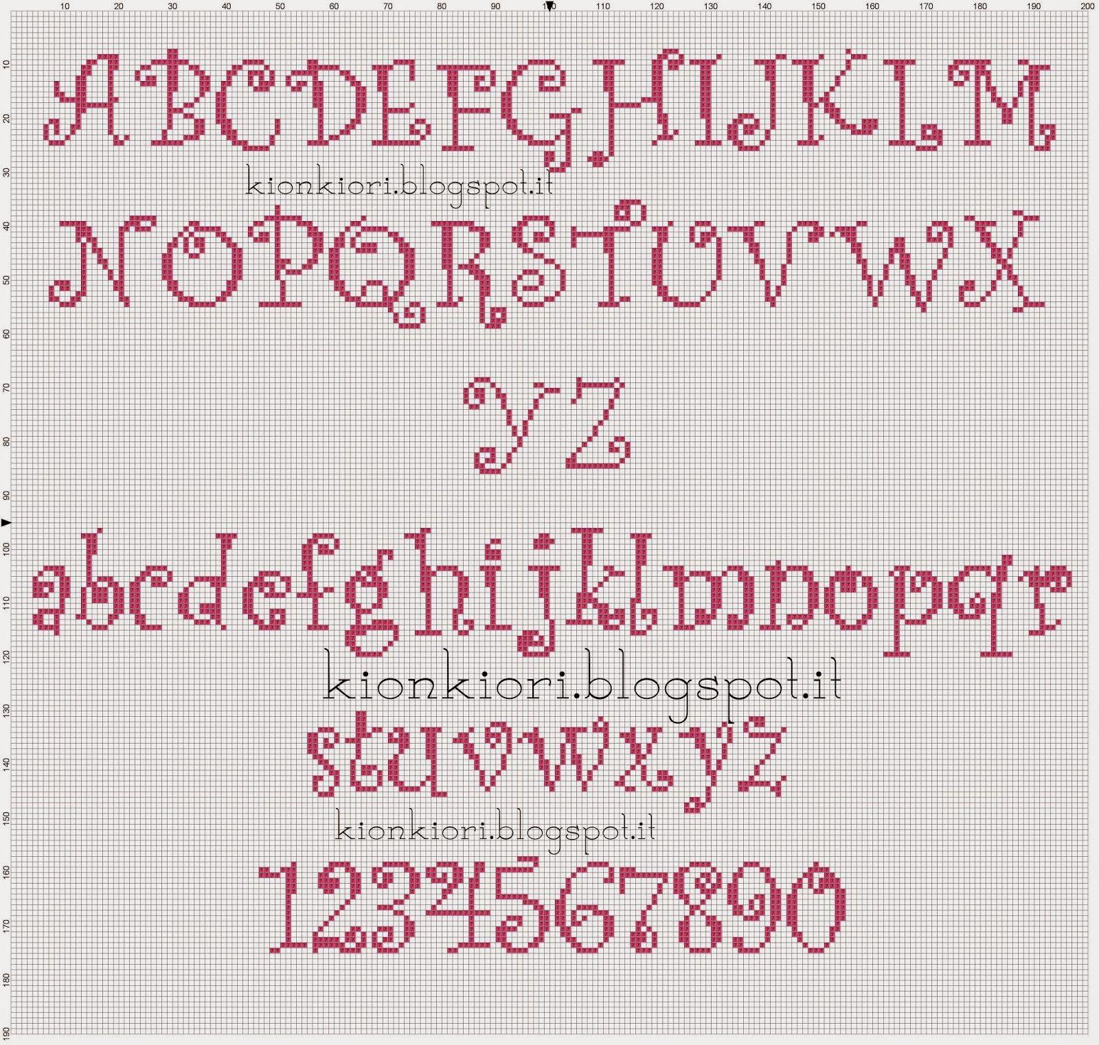 Alfabeto curlz mt completo h30 cs alphabet 3 alfabeto for Alfabeto a punto croce per neonati