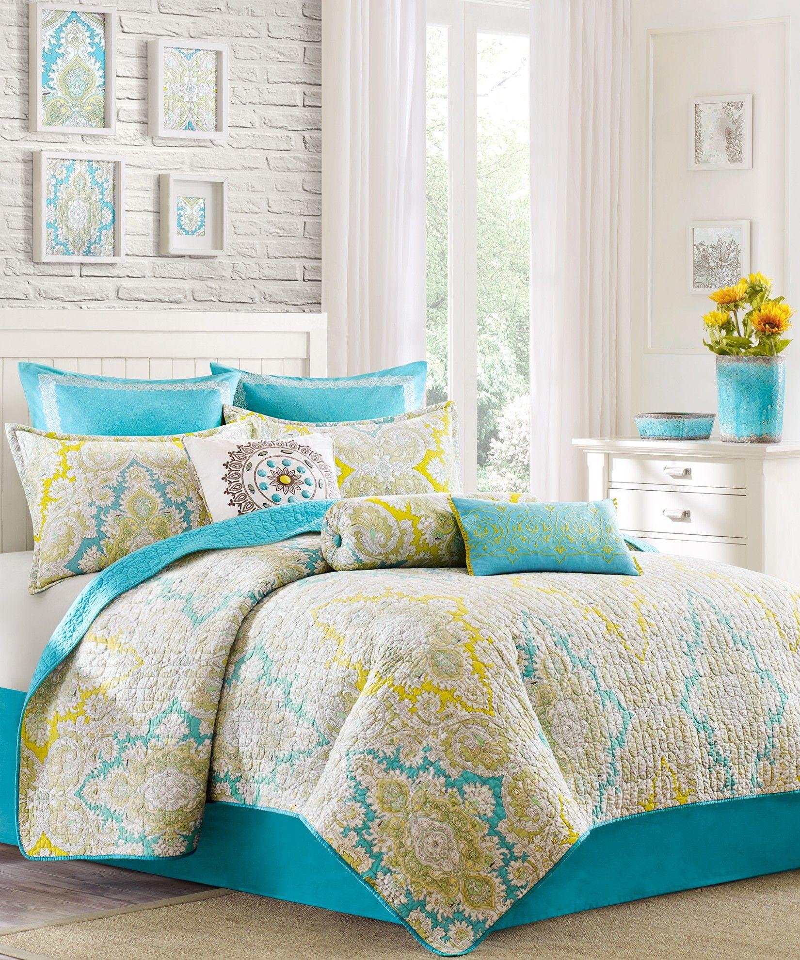 Turquoise_Paisley_Bedding_Echo Paisley bedding, Home