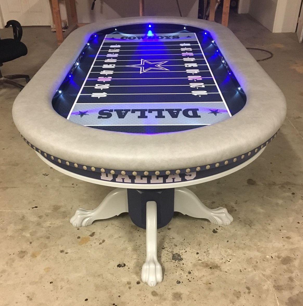 Dallas Cowboys Nfl Custom Poker Table Poker Table Custom Poker