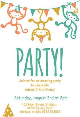 Childrens Party Birthday Invitation Template Free Greetings Island Free Birthday Invitation Templates Party Invite Template Birthday Party Invitations Printable