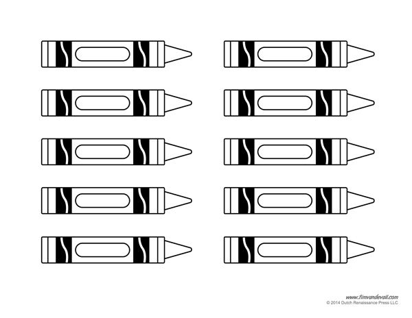 graphic about Printable Crayons Template known as crayon template Clroom Designs Crayon template, Reputation