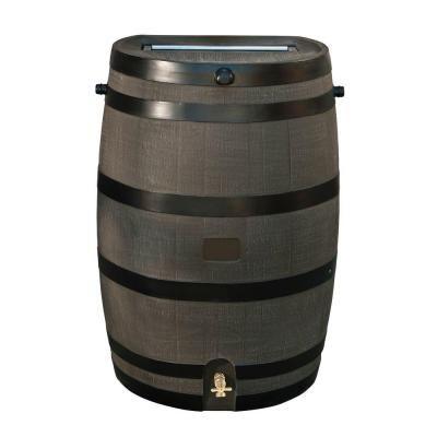 Rts Home Accents 50 Gal Rain Barrel With Woodgrain Brass Spigot 55100006005681 Rain Barrel Rain Water Collection Rain Barrel System