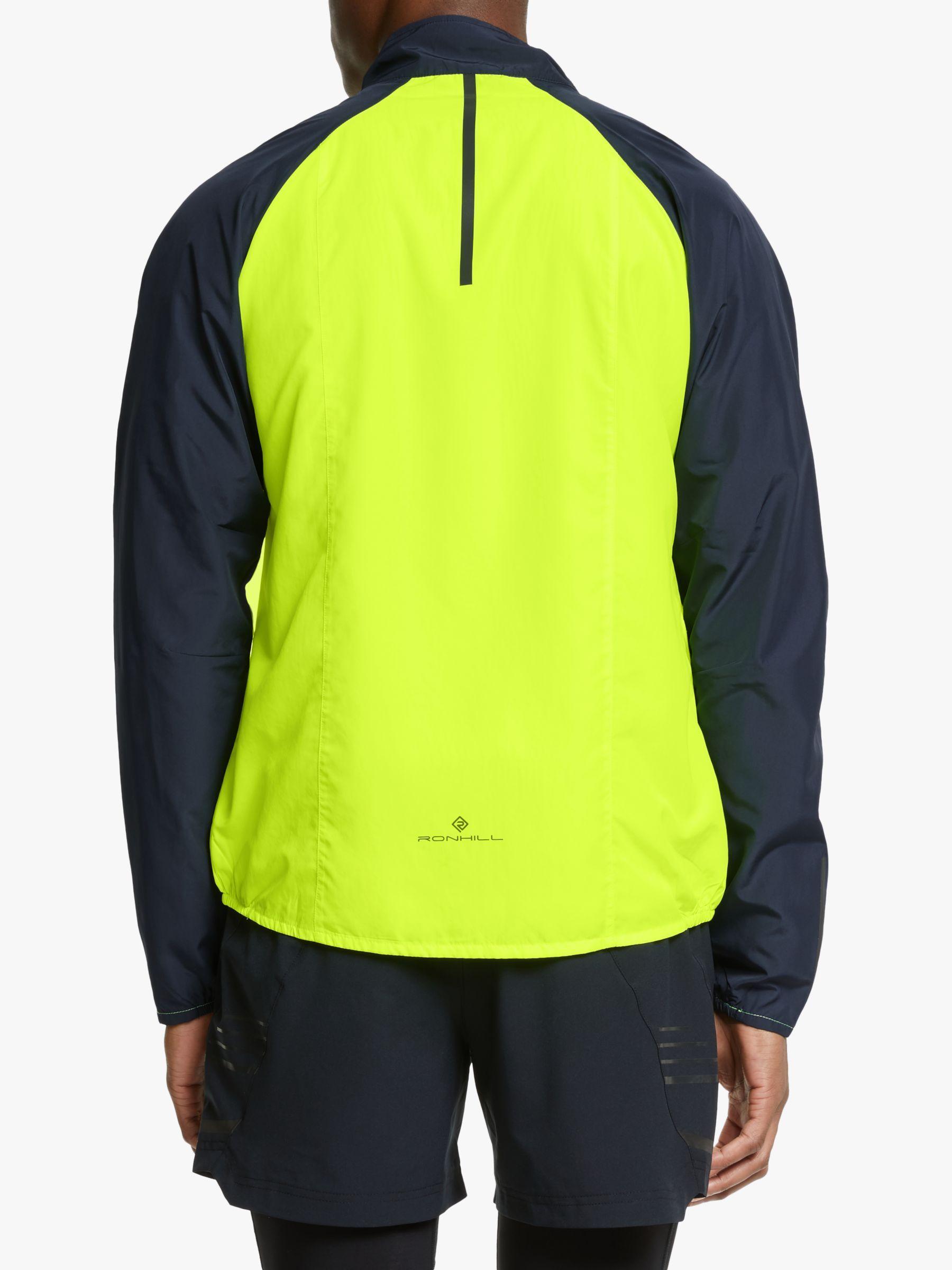 Grey Ronhill Stride Windspeed Mens Running Jacket