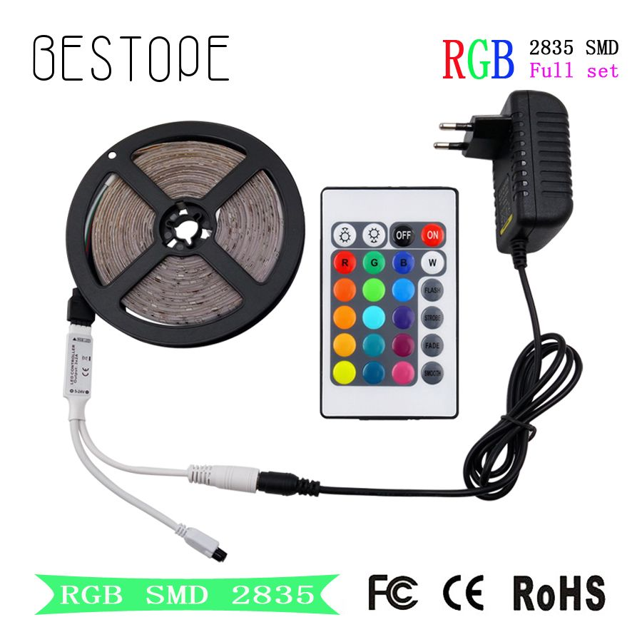 Rgb Led Bande Smd 2835 Led Dc 12 V 5050 Bande 5 M 10 M Etanche Flexible Ruban Rgb Neon Bande Controleur Pour La M Rgb Led Rgb Led Lights Rgb Led Strip Lights