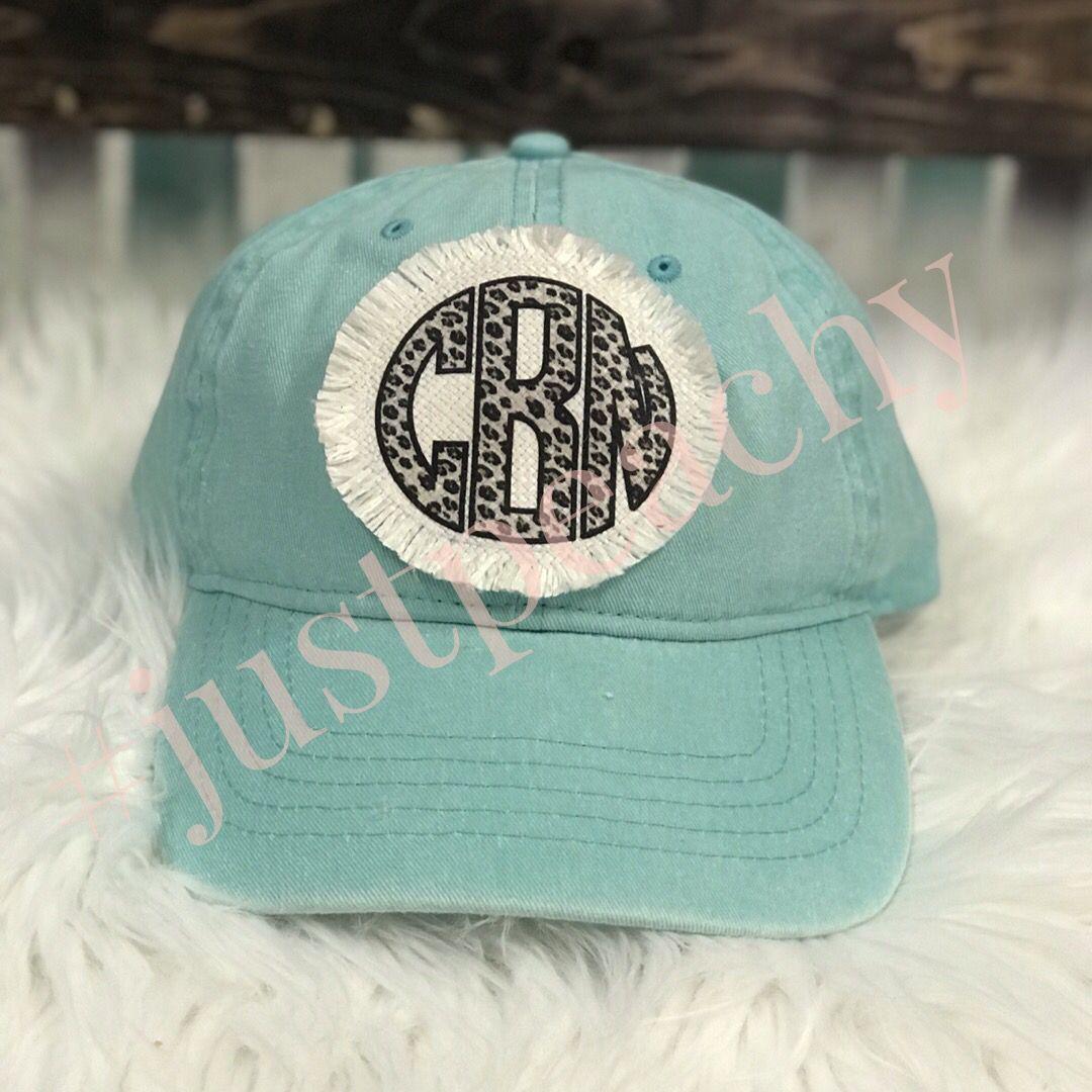 Raggy Patch Monogram Hat Monogram Hats Cute Hats Hats