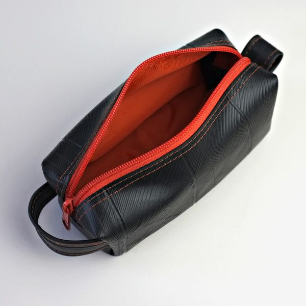 92d7b945a916 Dopp Kit Made From Inner Tube and great recycling effort!