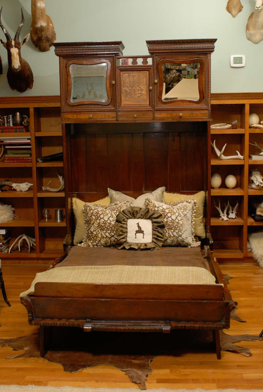 Rare Murphy Bed of Mahogany, New York, circa 1885