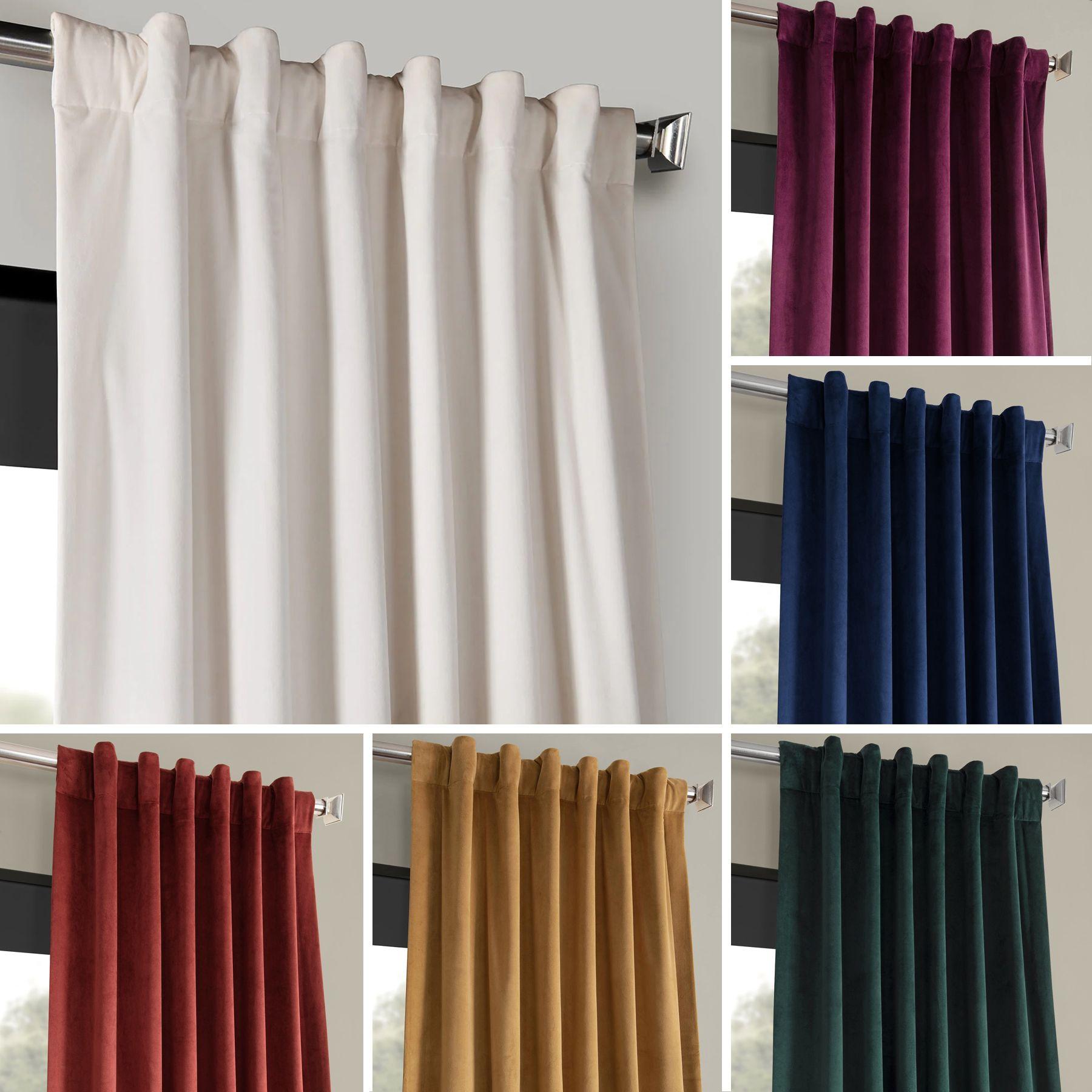 Signature Blackout Velvet Curtains In 2020 Velvet Curtains Velvet Drapes Curtains