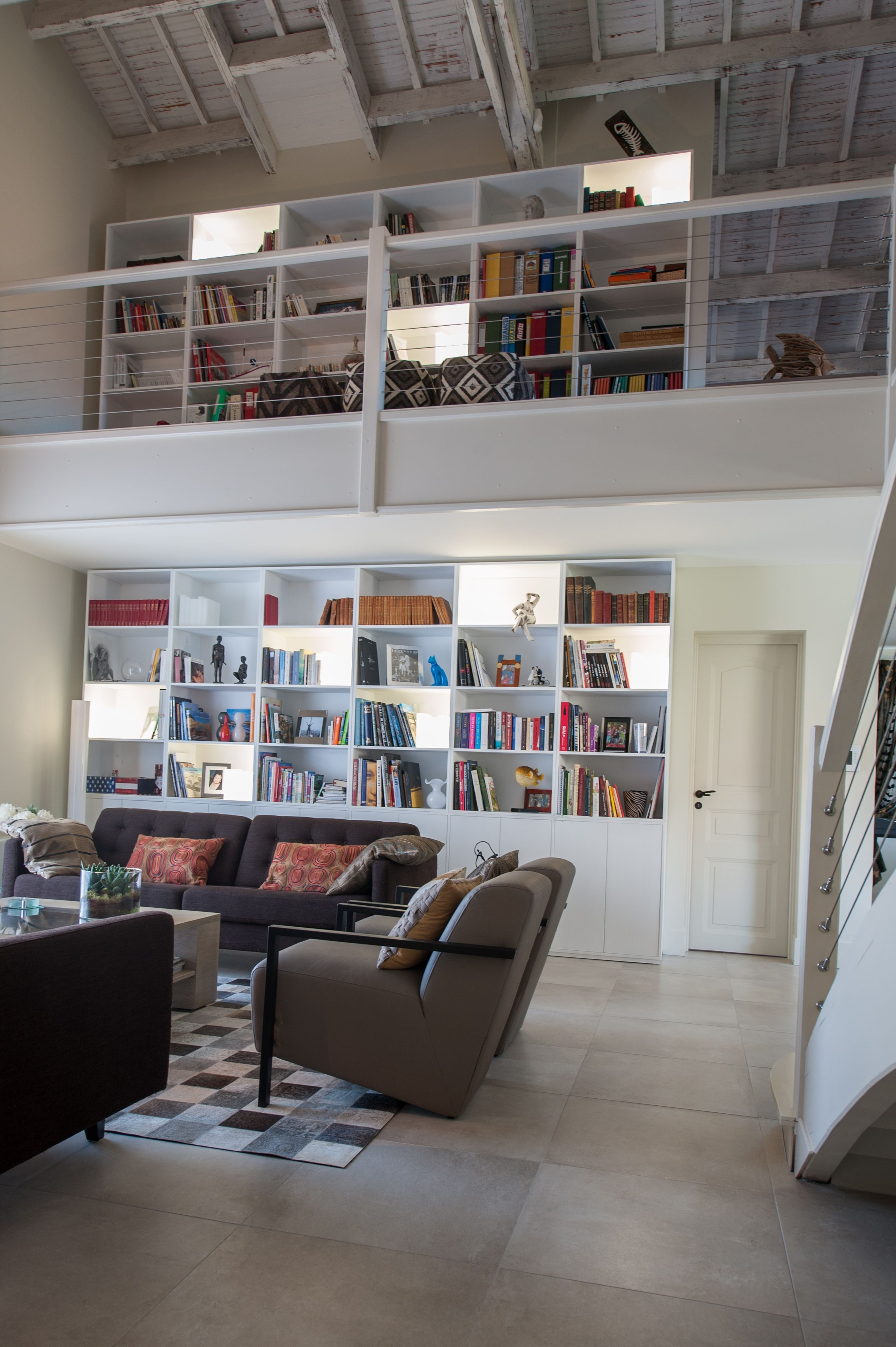 Am Nagement Sp Cial D Une Biblioth Que Sur Mesure Id Es Pour  # Bibliotheque Sur Mesure Salon