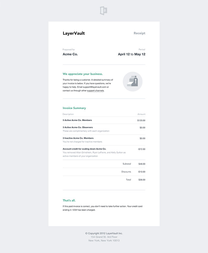 50 Creative Invoice Designs For Your Inspiration Hongkiat Invoice Design Email Template Design Email Newsletter Design